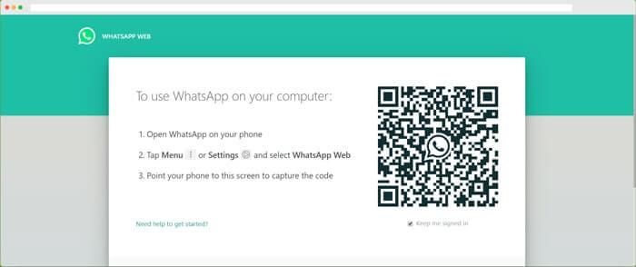 在電腦上登入whatsapp