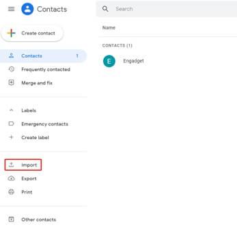 上傳csv檔案至導入聯繫人到gmail