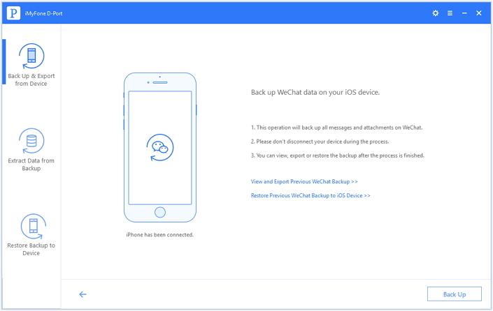 開始備份您的微信數據