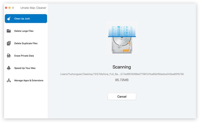 快速清潔掃描mac