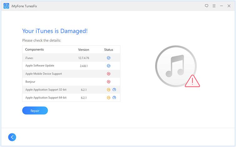 iTunes 損壞