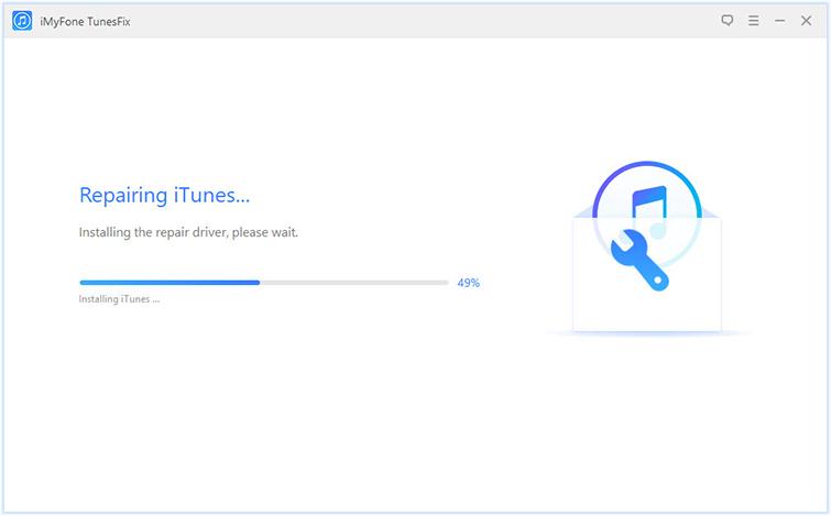 正在修復iTunes